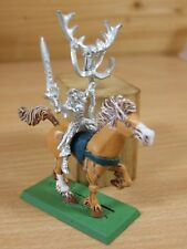 CLASSIC METAL WARHAMMER WOOD ELF MOUNTED MAGE PART PAINTED (4189)