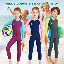 Girls Boys Kids Diving Dive Wetsuit Surf Suit Full Long Sleeve Swimwear UV