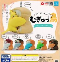 Mugyu Bird Mascot Keychain All 6 Type Set Gachapon Capsule Toy