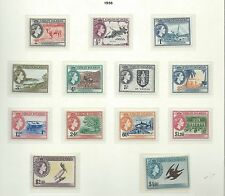 British Virgin Islands 1956 mint definitive set