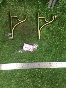Heavy Duty Brass Curtain Pole Brackets Approx 40mm