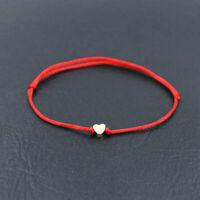 Bracelet CŒUR ficelle rouge porte-bonheur chance lucky romantique love amour