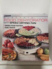 Vintage Emson 5 Tray Electric Food Dehydrator w/ Speed Drying Fan