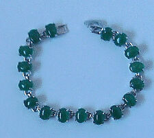 Silver Coloured and Faux Jade Pretty Bracelet NEW & UNWORN
