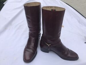 gucci boots 42 1/2M wine color