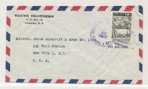 D174391 Panama Trute Brothers Airmail Cover 1957 New York USA