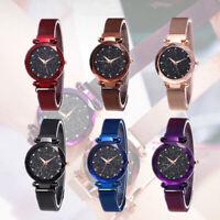 Starry Sky Watch Waterproof Magnet Stainless Steel Strap Free Buckle Women Gift