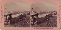 Panorama di Unterseen Suisse Foto Demay Stereo Vintage Albumina Ca 1870