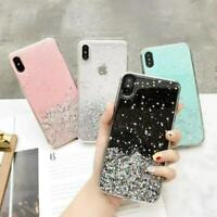 For iPhone XS Max XR 7 8 6s Plus Bling Glitter Clear Soft Rubber TPU Case Cover