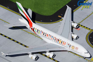 "Emirates A380 ""Tolerance"" A6-EVB Gemini Jets GJUAE1959 Scale 1:400 IN STOCK"