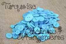 TURQUIOSE - Mixed Bulk Buttons 250+ Craft Scrapbooking Bouquet Mixed Colours