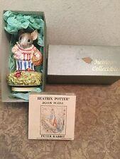 """""""MRS.TITTLEMOUSE"""" Schmid Beatrix Potter Music Box 1977 Plus Peter Rabbit Puzzle"""
