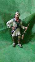 "American Indian Scout Statue - Made of Rubber - 6 3/4""Tall - Well Painted Detail"