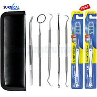 5 Tools Professional Dental Oral Hygiene Kit Deep Cleaning Scaler Teeth Care Set