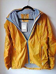 Kathmandu Mackenzie Mens Wind Shell Jacket Lightweight Hooded Gold Size M UK