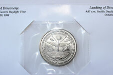 Republic of Marshall Islands $5 coin, 1988, Space Shuttle Discovery, UNC
