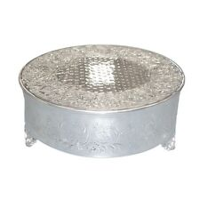 """Single Tiered 16"""" inch Large Polished Metal Round Cake Stand - Wedding 1 Tier"""