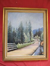 """Belle huile de 1981 signée A.MAILLOT """"forêt en Vosges """""""