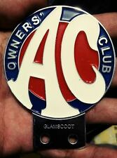 AC OWNERS CLUB CAR BADGE BRITISH LEYLAND mini cooper MG morris minor