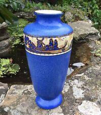 Gouda Pottery Art Deco Vase Arnhem? Mentone No.1 Windmill And Yachts