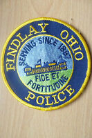 Patches- FINDLAY OHIO USA POLICE DEPT PATCH (NEW* apx.10x10 cm)
