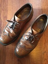Vintage Sears Brown Pebbled Leather Full Wing Tip Men's Oxford Shoes SZ 7 D