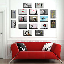 TIME4ART BANKSY CANVAS Love DOCTOR Peace PRINT Giclee SET 17 PCS 16''x12'' inch