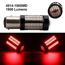 2Pcs Red Tail Lights 1157 BAY15D 4014 106 SMD LED Bulbs Stop Lamp 12V 24V 1900LM