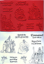 unmounted rubber stamps   NATIVITY  collection   9 images