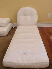 2 pc Frontgate Georgian Outdoor Patio Sofa CHAISE Lounge Cushion 22x60 NEW White