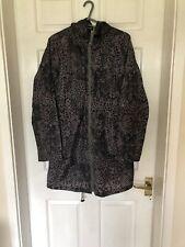 Ladies Print Hooded Rain Mac Size 8