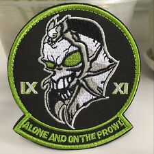 ALONE AND ON THE PROWL BLACK OPS AREA 51 Embroidered Military Tactical Patch