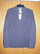 "Womens ""KENAR"" size 8 charcoal brown one button jacket/blazer NWT"