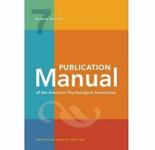 Publication Manual of the American Psychological Association 7th (2019, Digital)