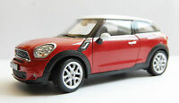 Modellauto Mini Cooper S Paceman, met,-rot/weiss, Bj. 2013, Maßstab 1:24, Welly