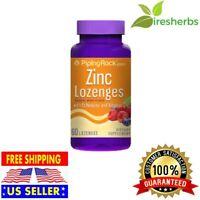ZINC LOZENGES Echinacea Vitamin C Natural Berry Flavor Immune System Boost 60ct
