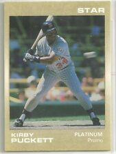 Kirby Puckett 1989 Star Platinum Series Minnesota Twins Promo Card ( 200 Made)