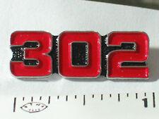 302 Engine Pin , Lapel Pin ,   Red  Badge Hat Tack