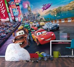 Disney Boys bedroom Wallpaper Cars photo wall mural in Giant size Rusty McQueen