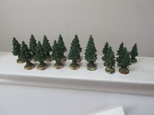 HO or O Scale , Beautiful Ceramic Trees , Lot of 18 , Mixed Styles