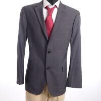 HUGO BOSS Sakko Jacket Pasolini1 Gr.52 grau uni Einreiher 2-Knopf -S961