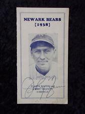 Vintage 1938 Newark Bears Player Roster Training Schedule Johnny Neun Auto 647