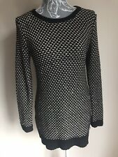 South Womens Jumper Size 10 Black Gold Sparkly Long Sleeved Crew Neck Occasion