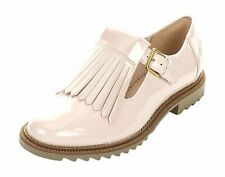 Clarks Ladies T-Bar Shoes GRIFFIN MIA Nude Pink UK 6 / 39.5