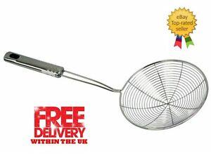 Skimmer Fry Spoon Kitchen Utensil Stainless Steel 14cm/18cm.