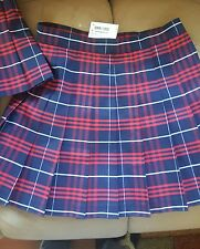 NEW American Apparel Tennis Skirt Pleated (MATILDA) Navy Blue Red White SIZE MED