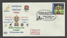 AUSTRALIA 2003 RUGBY WORLD CUP FINAL Souvenir Cover AUSTRALIA v ENGLAND 22/11/03