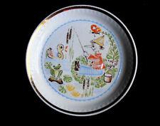 1970s USSR Latvia Riga Porcelain Plate w/Quality Mark Character BURATINO