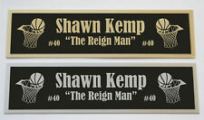 Shawn Kemp nameplate for signed basketball photo jersey or case