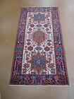 Antique Heriz Karajeh rug estate carpet  3.3 x 6.2 circa 1940s distressed